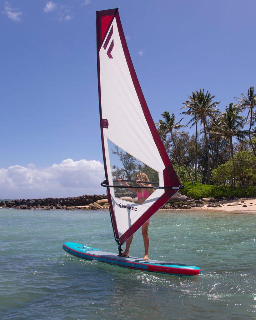 Windsurf SUP mit Fanatic Windsurf SUP-Segel